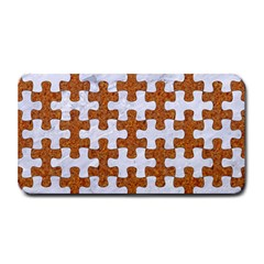 Puzzle1 White Marble & Rusted Metal Medium Bar Mats by trendistuff