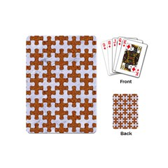 Puzzle1 White Marble & Rusted Metal Playing Cards (mini)  by trendistuff