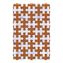 Puzzle1 White Marble & Rusted Metal Shower Curtain 48  X 72  (small)  by trendistuff