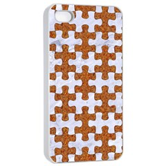 Puzzle1 White Marble & Rusted Metal Apple Iphone 4/4s Seamless Case (white) by trendistuff