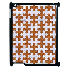 Puzzle1 White Marble & Rusted Metal Apple Ipad 2 Case (black) by trendistuff