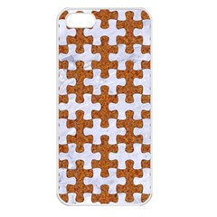 Puzzle1 White Marble & Rusted Metal Apple Iphone 5 Seamless Case (white) by trendistuff