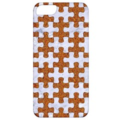 Puzzle1 White Marble & Rusted Metal Apple Iphone 5 Classic Hardshell Case by trendistuff
