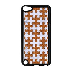 Puzzle1 White Marble & Rusted Metal Apple Ipod Touch 5 Case (black) by trendistuff
