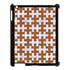 Puzzle1 White Marble & Rusted Metal Apple Ipad 3/4 Case (black) by trendistuff