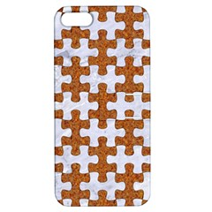 Puzzle1 White Marble & Rusted Metal Apple Iphone 5 Hardshell Case With Stand by trendistuff