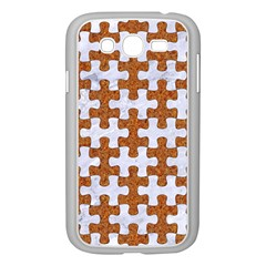 Puzzle1 White Marble & Rusted Metal Samsung Galaxy Grand Duos I9082 Case (white) by trendistuff
