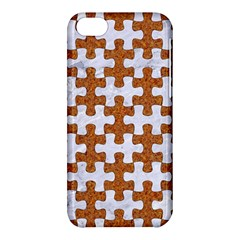 Puzzle1 White Marble & Rusted Metal Apple Iphone 5c Hardshell Case by trendistuff
