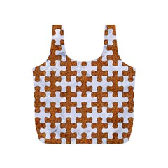Puzzle1 White Marble & Rusted Metal Full Print Recycle Bags (s)  by trendistuff