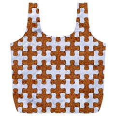 Puzzle1 White Marble & Rusted Metal Full Print Recycle Bags (l)  by trendistuff