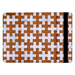 Puzzle1 White Marble & Rusted Metal Samsung Galaxy Tab Pro 12 2  Flip Case by trendistuff