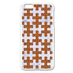 Puzzle1 White Marble & Rusted Metal Apple Iphone 6 Plus/6s Plus Enamel White Case by trendistuff
