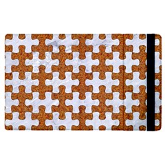 Puzzle1 White Marble & Rusted Metal Apple Ipad Pro 12 9   Flip Case by trendistuff