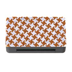 Houndstooth2 White Marble & Rusted Metal Memory Card Reader With Cf by trendistuff