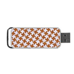 Houndstooth2 White Marble & Rusted Metal Portable Usb Flash (one Side) by trendistuff