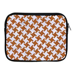 Houndstooth2 White Marble & Rusted Metal Apple Ipad 2/3/4 Zipper Cases by trendistuff