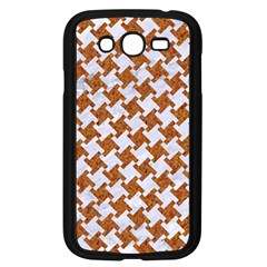 Houndstooth2 White Marble & Rusted Metal Samsung Galaxy Grand Duos I9082 Case (black) by trendistuff
