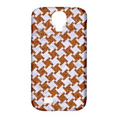 Houndstooth2 White Marble & Rusted Metal Samsung Galaxy S4 Classic Hardshell Case (pc+silicone) by trendistuff