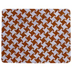Houndstooth2 White Marble & Rusted Metal Jigsaw Puzzle Photo Stand (rectangular) by trendistuff