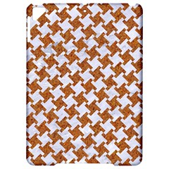 Houndstooth2 White Marble & Rusted Metal Apple Ipad Pro 9 7   Hardshell Case by trendistuff