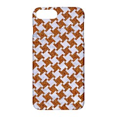Houndstooth2 White Marble & Rusted Metal Apple Iphone 7 Plus Hardshell Case by trendistuff