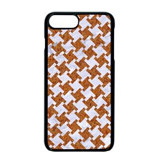 Houndstooth2 White Marble & Rusted Metal Apple Iphone 7 Plus Seamless Case (black) by trendistuff