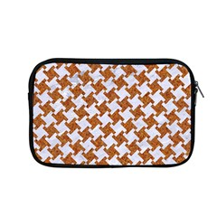 Houndstooth2 White Marble & Rusted Metal Apple Macbook Pro 13  Zipper Case by trendistuff