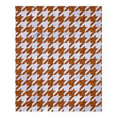 Houndstooth1 White Marble & Rusted Metal Shower Curtain 60  X 72  (medium)  by trendistuff