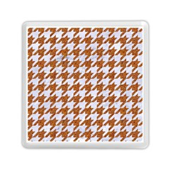 Houndstooth1 White Marble & Rusted Metal Memory Card Reader (square)  by trendistuff