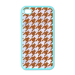 Houndstooth1 White Marble & Rusted Metal Apple Iphone 4 Case (color) by trendistuff