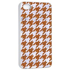 Houndstooth1 White Marble & Rusted Metal Apple Iphone 4/4s Seamless Case (white) by trendistuff