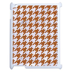 Houndstooth1 White Marble & Rusted Metal Apple Ipad 2 Case (white) by trendistuff
