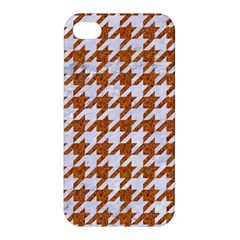 Houndstooth1 White Marble & Rusted Metal Apple Iphone 4/4s Hardshell Case by trendistuff