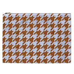 Houndstooth1 White Marble & Rusted Metal Cosmetic Bag (xxl)  by trendistuff