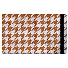 Houndstooth1 White Marble & Rusted Metal Apple Ipad 3/4 Flip Case by trendistuff