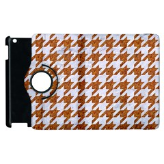 Houndstooth1 White Marble & Rusted Metal Apple Ipad 3/4 Flip 360 Case by trendistuff