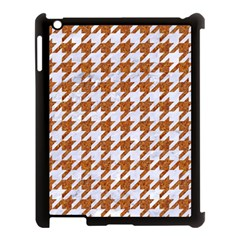 Houndstooth1 White Marble & Rusted Metal Apple Ipad 3/4 Case (black) by trendistuff