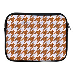 Houndstooth1 White Marble & Rusted Metal Apple Ipad 2/3/4 Zipper Cases by trendistuff