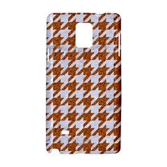Houndstooth1 White Marble & Rusted Metal Samsung Galaxy Note 4 Hardshell Case by trendistuff