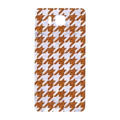Houndstooth1 White Marble & Rusted Metal Samsung Galaxy Alpha Hardshell Back Case by trendistuff
