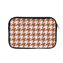 Houndstooth1 White Marble & Rusted Metal Apple Macbook Pro 13  Zipper Case by trendistuff