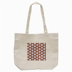 Hexagon2 White Marble & Rusted Metal (r) Tote Bag (cream) by trendistuff