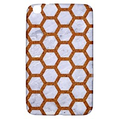 Hexagon2 White Marble & Rusted Metal (r) Samsung Galaxy Tab 3 (8 ) T3100 Hardshell Case  by trendistuff