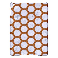 Hexagon2 White Marble & Rusted Metal (r) Ipad Air Hardshell Cases by trendistuff