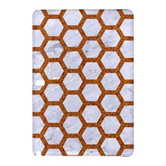 Hexagon2 White Marble & Rusted Metal (r) Samsung Galaxy Tab Pro 12 2 Hardshell Case by trendistuff