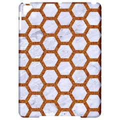 Hexagon2 White Marble & Rusted Metal (r) Apple Ipad Pro 9 7   Hardshell Case by trendistuff