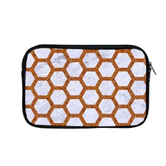 Hexagon2 White Marble & Rusted Metal (r) Apple Macbook Pro 13  Zipper Case by trendistuff