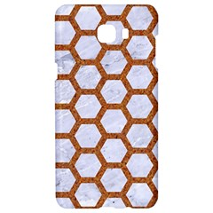 Hexagon2 White Marble & Rusted Metal (r) Samsung C9 Pro Hardshell Case  by trendistuff