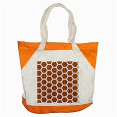 Hexagon2 White Marble & Rusted Metal Accent Tote Bag by trendistuff