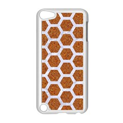 Hexagon2 White Marble & Rusted Metal Apple Ipod Touch 5 Case (white) by trendistuff
